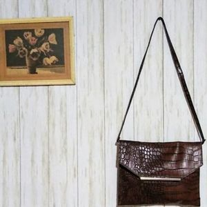 Merona faux Leather crocodile embossed bag
